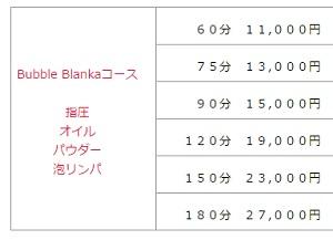飯田橋ブランカのバブルコース