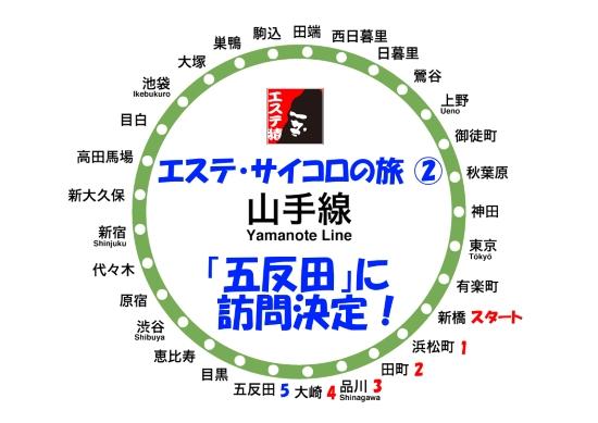 エステ・サイコロの旅(2) 新橋⇒五反田